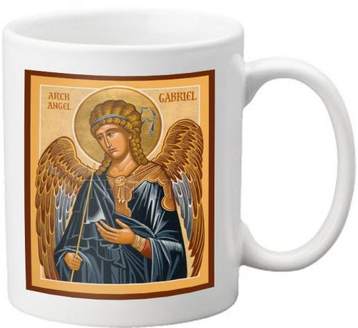 Coffee-Tea Mug - St. Gabriel Archangel by J. Cole