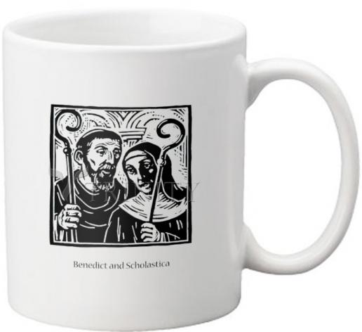 Coffee-Tea Mug - Sts. Benedict and Scholastica by J. Lonneman