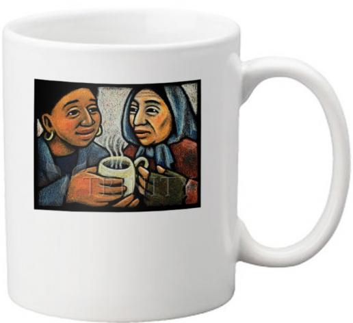 Coffee-Tea Mug - Blessed Are the Poor by J. Lonneman