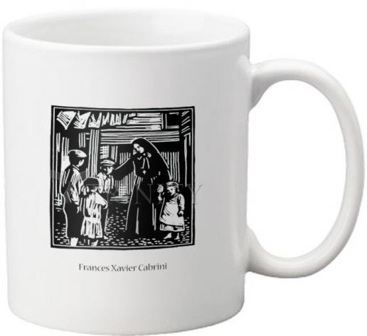Coffee-Tea Mug - St. Frances Xavier Cabrini by J. Lonneman