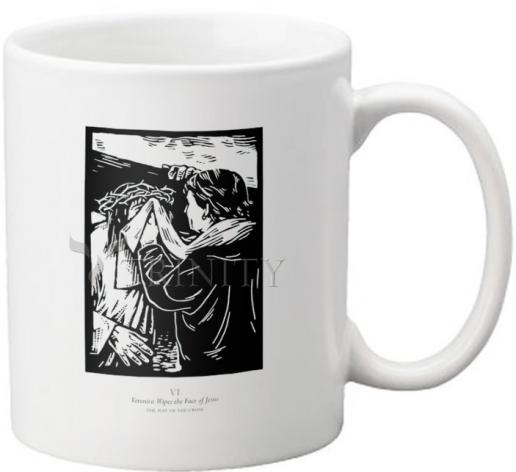 Coffee-Tea Mug - Traditional Stations of the Cross 06 - St. Veronica Wipes the Face of Jesus by J. Lonneman