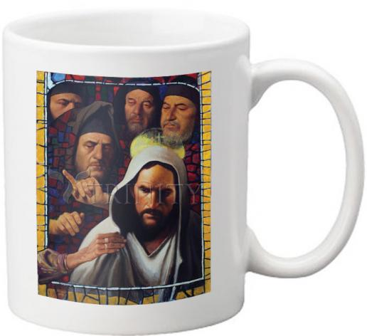 Coffee-Tea Mug - Jesus' Foes by L. Glanzman