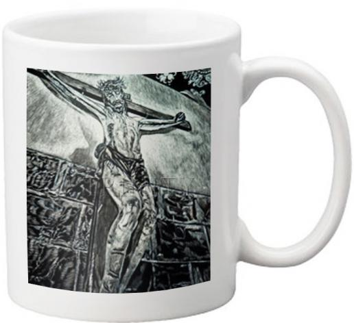 Coffee-Tea Mug - Crucifix, Coricancha, Peru by L. Williams