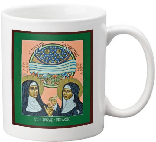 Coffee-Tea Mug - St. Hildegard of Bingen and her Assistant Richardis by L. Williams