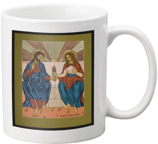 Coffee-Tea Mug - Jesus and Mary Magdalene by L. Williams