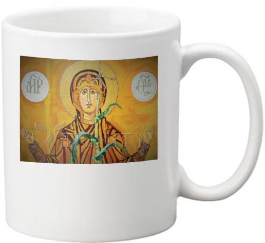 Coffee-Tea Mug - Our Lady of the Harvest by L. Williams