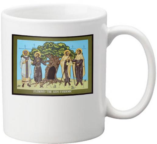 Coffee-Tea Mug - Patrons of the AIDS Pandemic by L. Williams