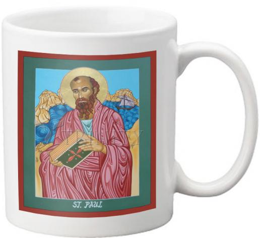 Coffee-Tea Mug - St. Paul of the Shipwreck by L. Williams