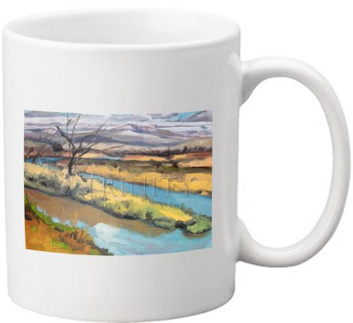 Coffee-Tea Mug - River Cold in Spring by L. Williams