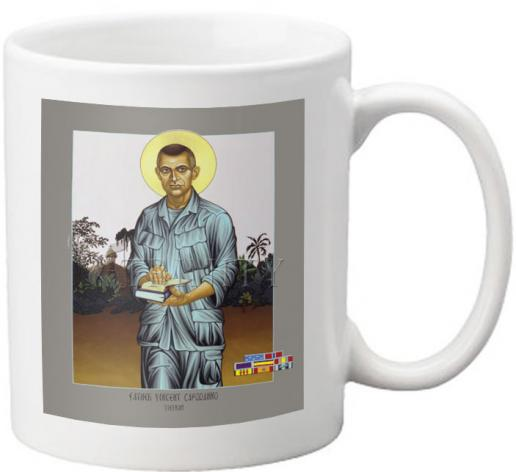 Coffee-Tea Mug - Fr. Vincent Capodanno by L. Williams