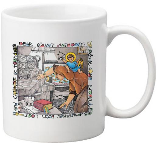 Coffee-Tea Mug - St. Anthony of Padua by M. McGrath