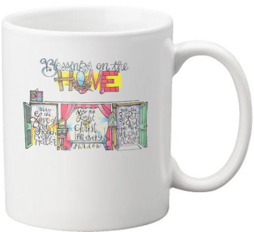 Coffee-Tea Mug - Blessings on the Home by M. McGrath