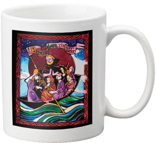 Coffee-Tea Mug - St. Brendan the Navigator by M. McGrath