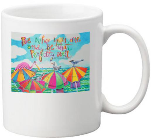 Coffee-Tea Mug - Be Who You Are by M. McGrath