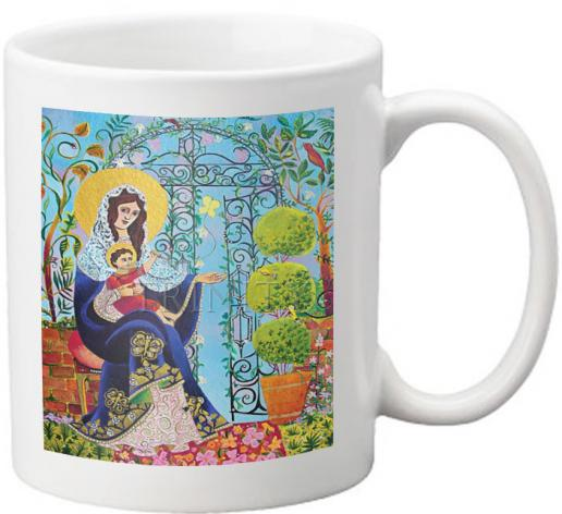 Coffee-Tea Mug - Mary, Gate of Heaven by M. McGrath