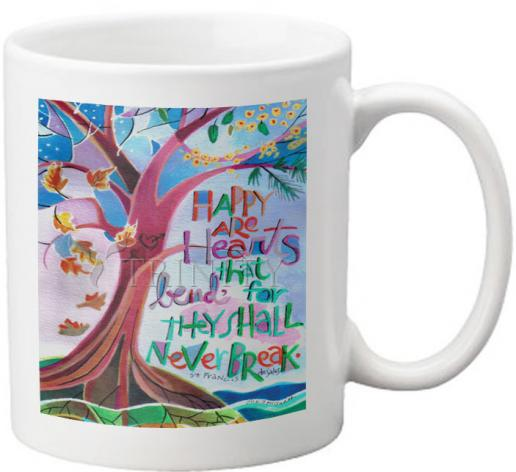 Coffee-Tea Mug - Happy Are Hearts That Bend by M. McGrath
