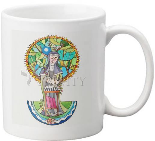Coffee-Tea Mug - St. Hildegard of Bingen by M. McGrath