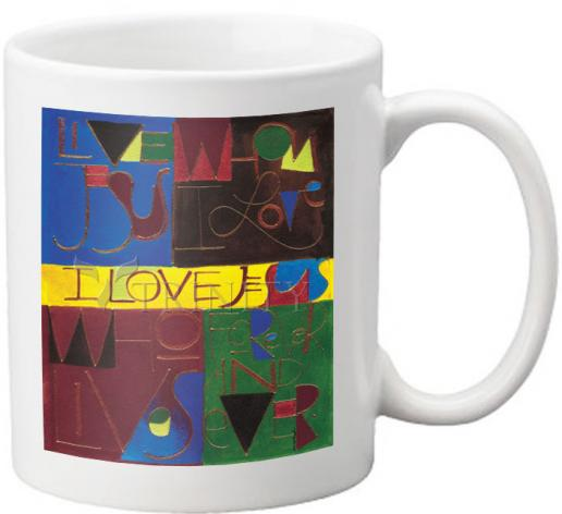 Coffee-Tea Mug - I Love Jesus by M. McGrath