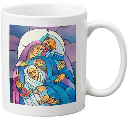 Coffee-Tea Mug - Stations of the Cross - 14 Body of Jesus is Laid in the Tomb by M. McGrath