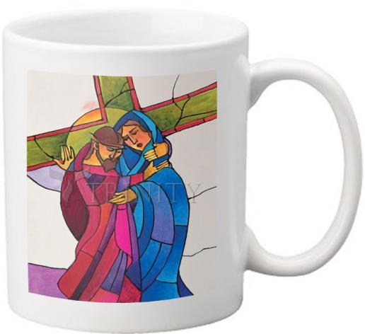 Coffee-Tea Mug - Stations of the Cross - 04 Jesus Meets His Sorrowful Mother by M. McGrath