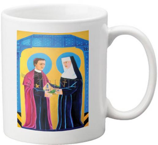 Coffee-Tea Mug - Sts. John Neumann and Katharine Drexel by M. McGrath
