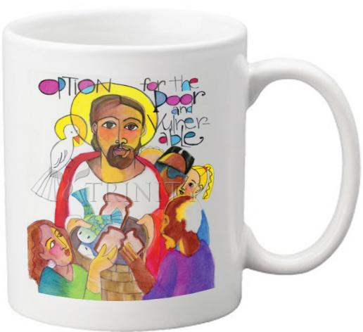 Coffee-Tea Mug - Option for the Poor and Vulnerable by M. McGrath