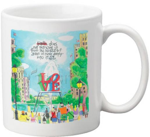 Coffee-Tea Mug - Pope Francis: Philly Love by M. McGrath