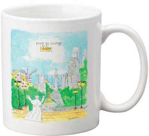 Coffee-Tea Mug - Pope Francis: Philly Museum by M. McGrath