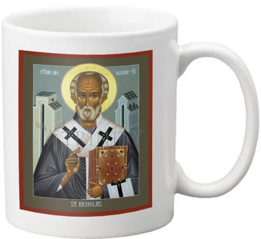 Coffee-Tea Mug - St. Nicholas of Myra by R. Lentz