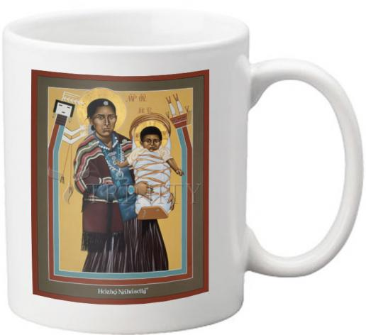 Coffee-Tea Mug - Navaho Madonna by R. Lentz