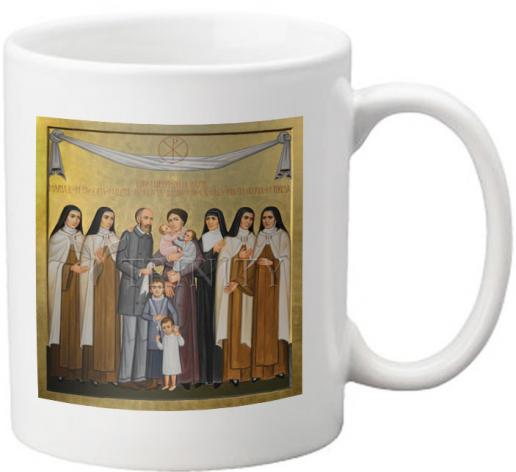 Coffee-Tea Mug - Sts. Louis and Zélie Martin with St. Thérèse of Lisieux and Siblings by P. Orlando