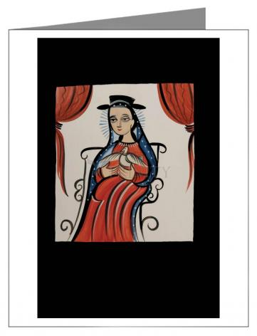 Custom Text Note Card - Soul of Mary by A. Olivas