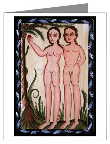 Custom Text Note Card - Adam and Eve by A. Olivas