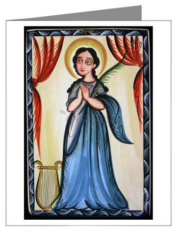 Custom Text Note Card - St. Cecilia by A. Olivas