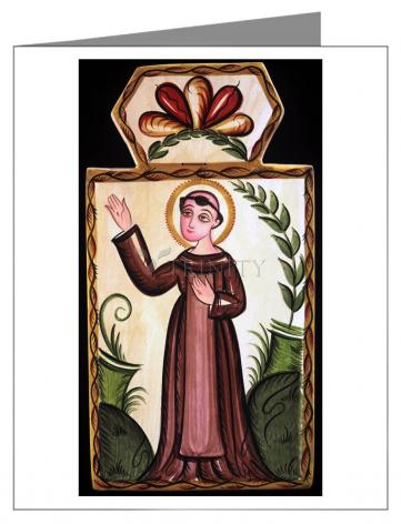 Custom Text Note Card - St. Francis of Assisi by A. Olivas