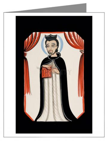 Custom Text Note Card - St. Ignatius of Loyola by A. Olivas