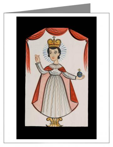 Custom Text Note Card - Infant of Prague by A. Olivas