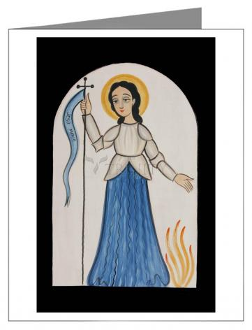 Custom Text Note Card - St. Joan of Arc by A. Olivas