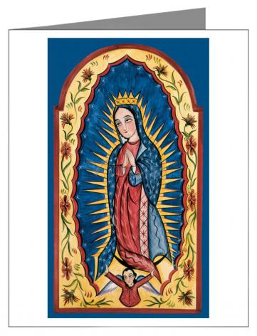 Custom Text Note Card - Our Lady of Guadalupe by A. Olivas