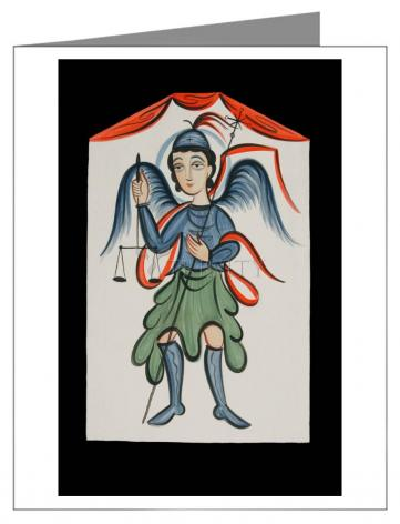 Custom Text Note Card - St. Michael Archangel by A. Olivas