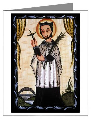 Custom Text Note Card - St. John Nepomucene by A. Olivas