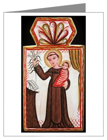 Custom Text Note Card - St. Anthony of Padua by A. Olivas