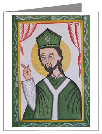 Custom Text Note Card - St. Patrick by A. Olivas