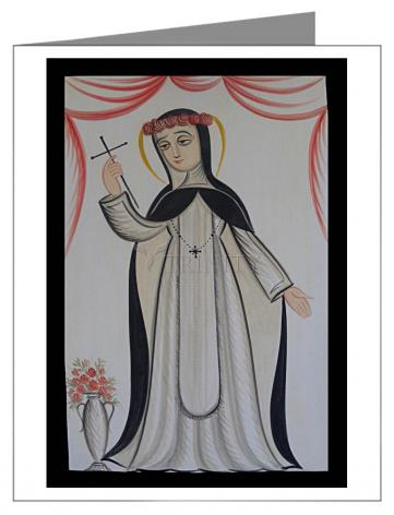 Custom Text Note Card - St. Rose of Lima by A. Olivas