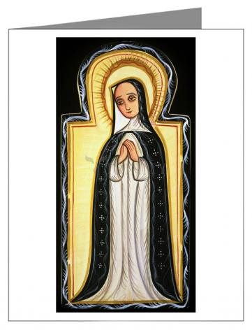 Custom Text Note Card - Our Lady of Solitude by A. Olivas