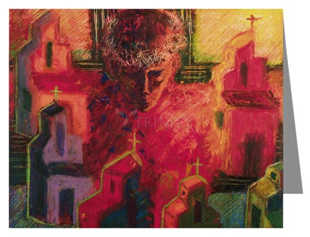 Custom Text Note Card - Divine Love by B. Gilroy
