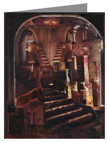 Custom Text Note Card - Split Staircase by B. Gilroy