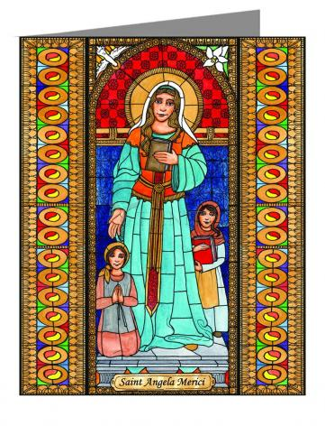 Custom Text Note Card - St. Angela Merici by B. Nippert
