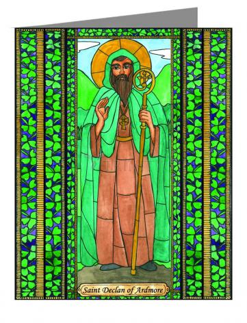 Custom Text Note Card - St. Declan of Ardmore by B. Nippert