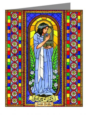 Custom Text Note Card - St. Cecilia by B. Nippert